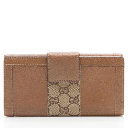 Gucci GG Canvas Nailhead Wallet