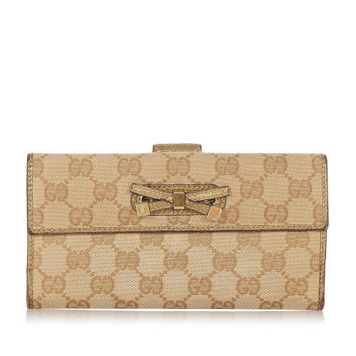 Gucci GG Canvas Princy Long Wallet
