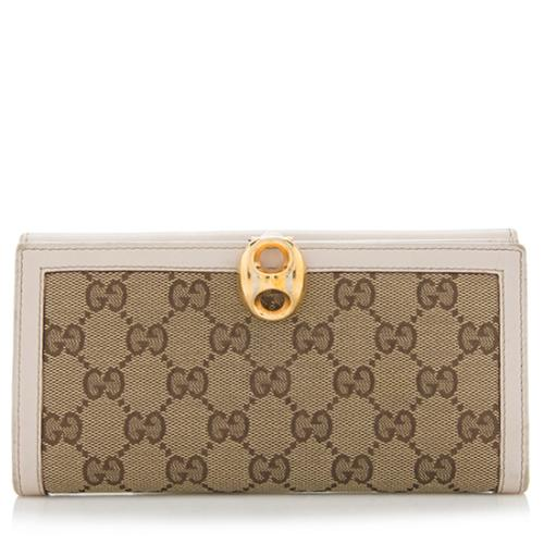 Gucci GG Canvas Wave Wallet - FINAL SALE