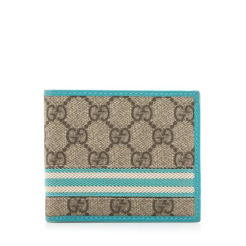 Gucci GG Canvas Web Bi-Fold Wallet
