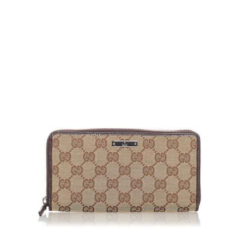 Gucci GG Canvas Zip Around Long Wallet