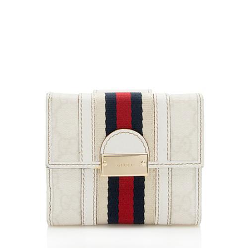 Gucci GG Supreme Web French Wallet