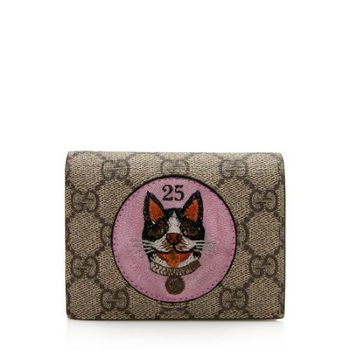 Gucci GG Supreme Monogram Bosco Patch Card Case