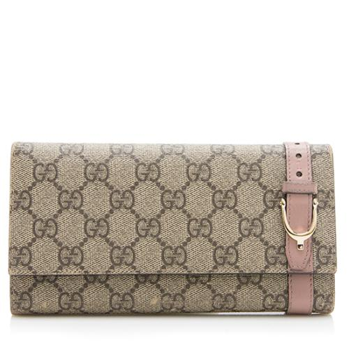 Gucci GG Supreme Nice Continental Wallet