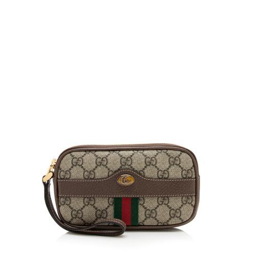 Gucci GG Supreme Ophidia Wristlet