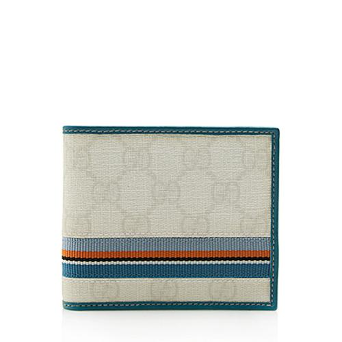 Gucci GG Supreme Web Bi-Fold Wallet
