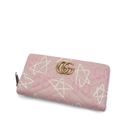 Gucci Leather GucciGhost Zip Around Wallet