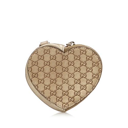 Gucci Guccissima Heart Coin Pouch