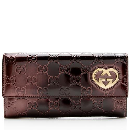 Gucci Guccissima Heart Logo Wallet