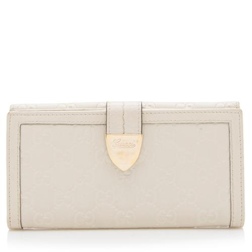 Gucci Guccissima Leather Continental Wallet