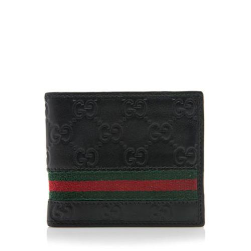 d42da547befe Gucci-Guccissima-Leather-Web-Bi-Fold-Wallet 97770 front large 0.jpg