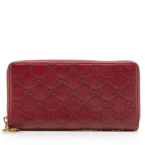 Gucci Guccissima Leather Zip Around Wallet