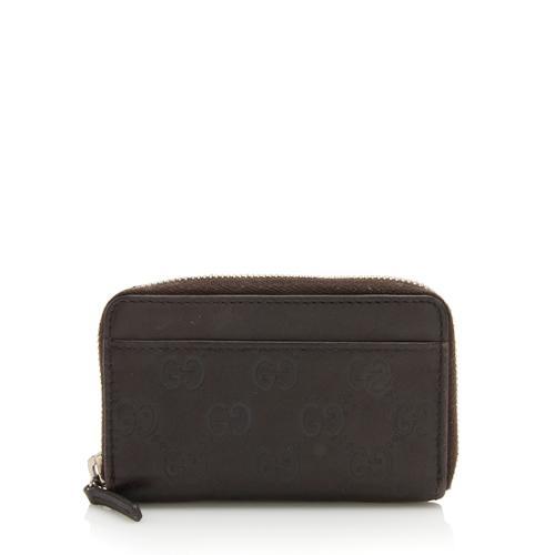 Gucci Guccissima Leather Zip Coin Purse