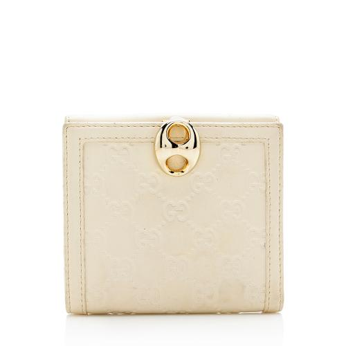 Gucci Guccissima Wave French Compact Wallet
