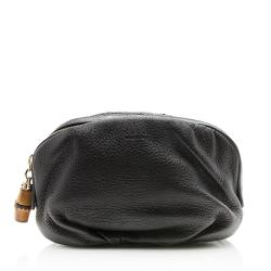 Gucci Leather Bamboo Cosmetic Bag