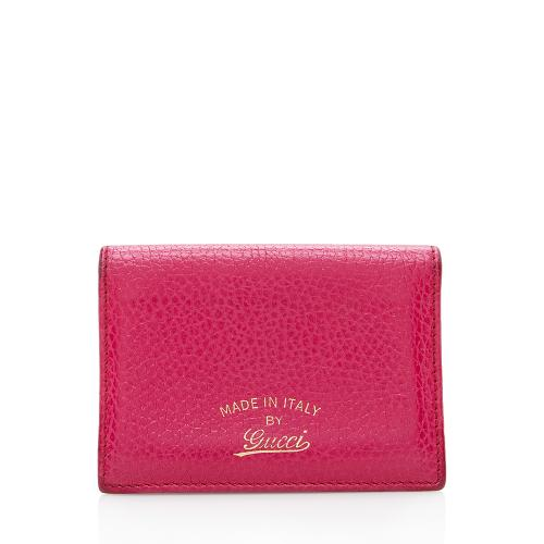 Gucci Leather Swing Card Case
