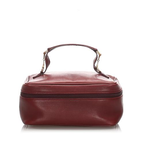 Gucci Leather Vanity Bag
