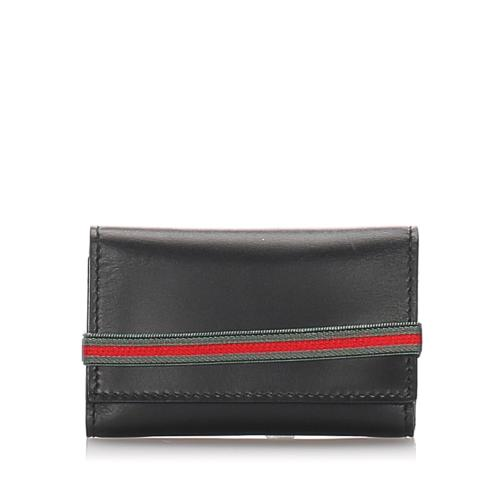 Gucci Leather Web Key Holder