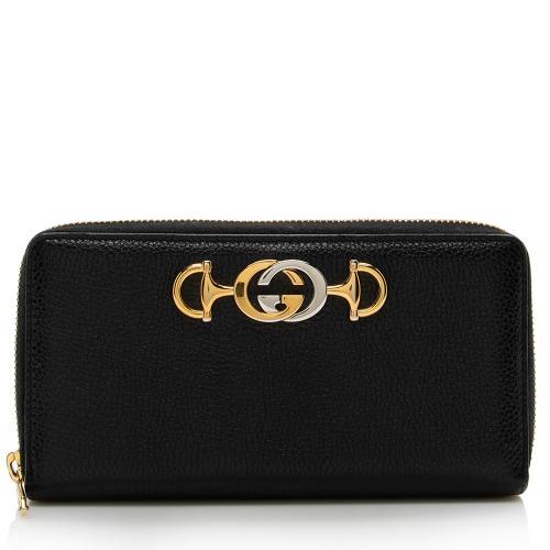 Gucci Leather Zumi Zip Wallet
