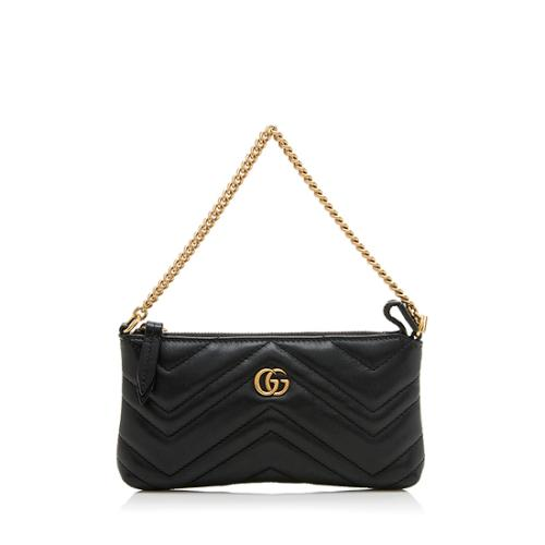 Gucci Matelasse Leather GG Marmont Mini Chain Pochette