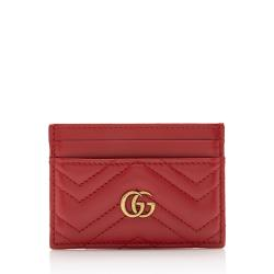Gucci Matelasse Leather GG Marmont Card Case