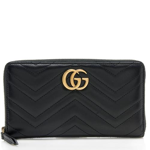 7938ce0ba5e gucci matelasse leather gg marmont zip around wallet small leather goods