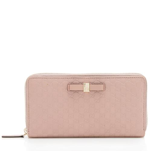 Gucci Microguccissima Leather Bow Wallet