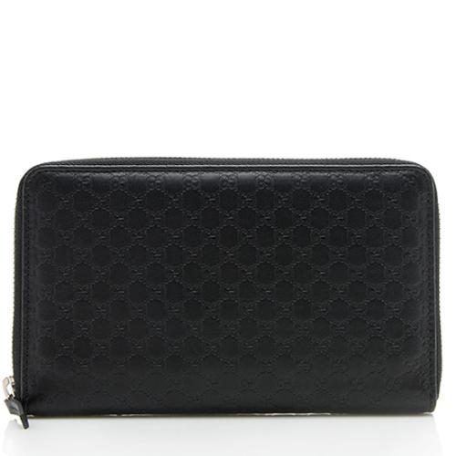 Gucci Microguccissima Leather Large Zip Around Wallet