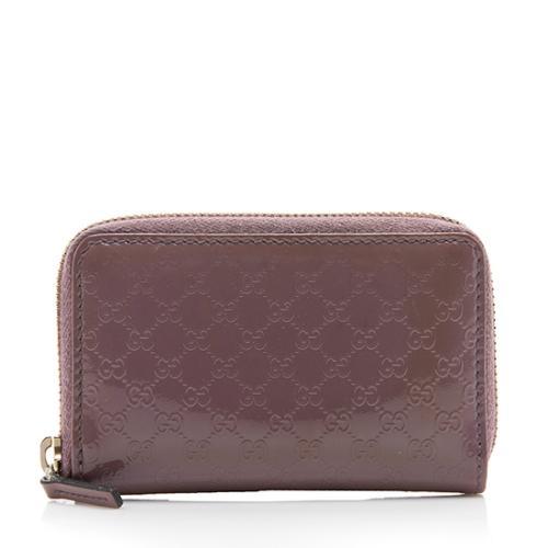 Gucci Microguccissima Leather Zip Card Case
