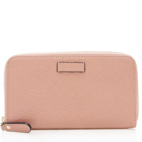 Gucci Microguccissima Leather Zip Wallet