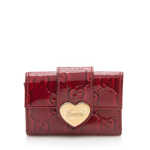 Gucci Patent Leather Heart Key Holder