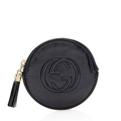 Gucci Patent Leather Soho Round Coin Purse
