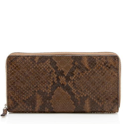Gucci Python Microguccissima Zip Around Wallet