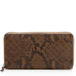 Gucci Python Microguccissima Zip Around Wallet