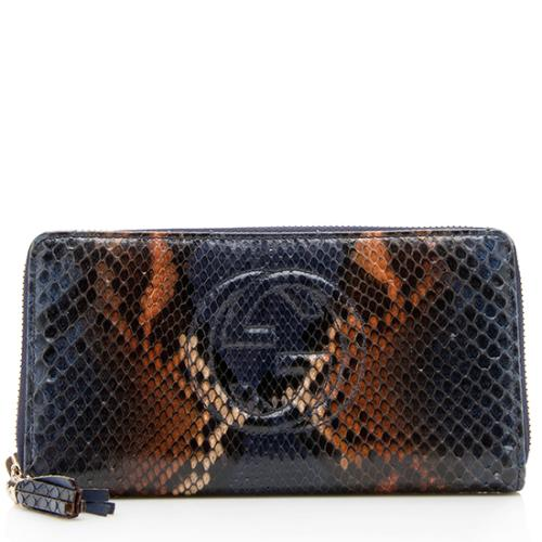 5af3851d534 Buy gucci bright micro guccissima gg logo patent leather zip wallet ...