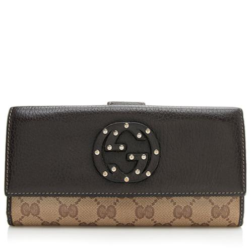 Gucci Studded GG Crystal Interlocking G Wallet - FINAL SALE