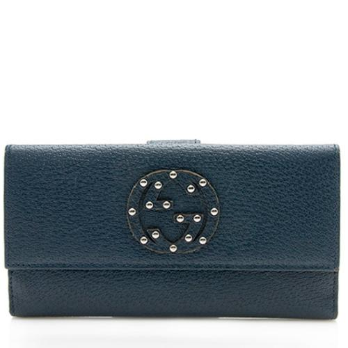 Gucci Studded Leather Soho Continental Wallet