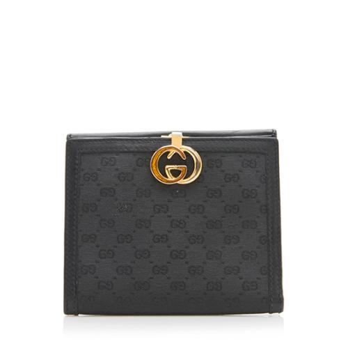 Gucci Vintage GG Leather Compact Wallet