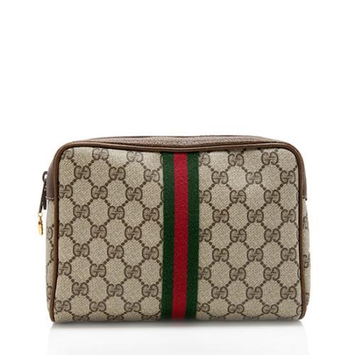 Gucci Vintage GG Plus Web Cosmetic Bag