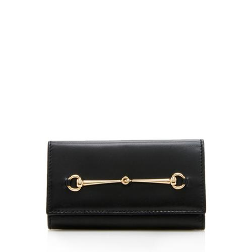 Gucci Vintage Leather Horsebit Key Case