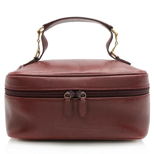 Gucci Vintage Leather Horsebit Vanity Bag