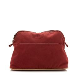 Hermes Canvas Bolide Cosmetic Pouch - FINAL SALE