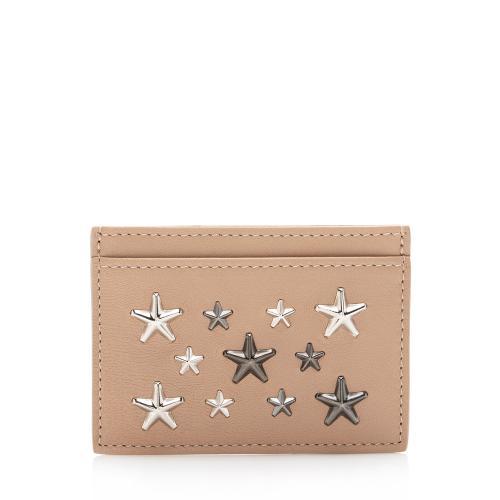 Jimmy Choo Leather Star Umika Card Case