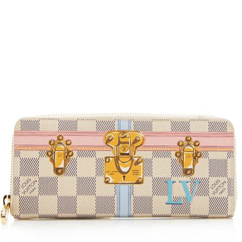 Louis Vuitton Damier Azur Summer Trunk Clemence Wallet