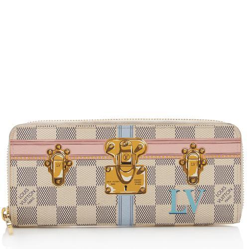 Louis Vuitton Damier Azur Summer Trunk Clemence Wallet