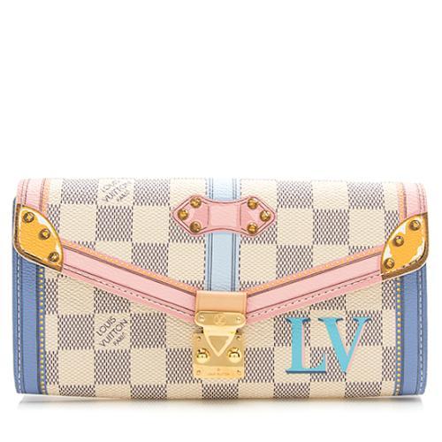 Louis Vuitton Damier Azur Summer Trunk Sarah Wallet