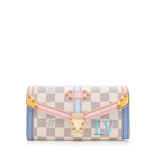 Louis Vuitton Damier Azur Summer Trunk Sarah Wallet