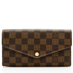 Louis Vuitton Damier Ebene Canvas Sarah Long Wallet