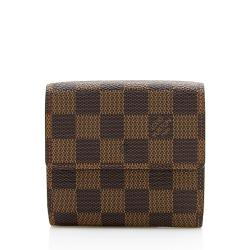 Louis Vuitton Damier Ebene Elise Wallet