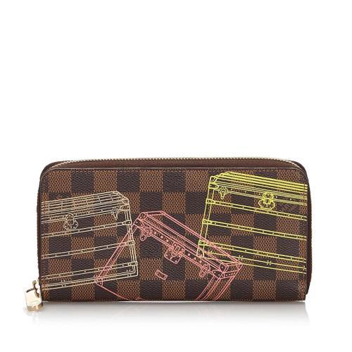 Louis Vuitton Damier Ebene Inventuer Trunks and Locks Zippy Wallet